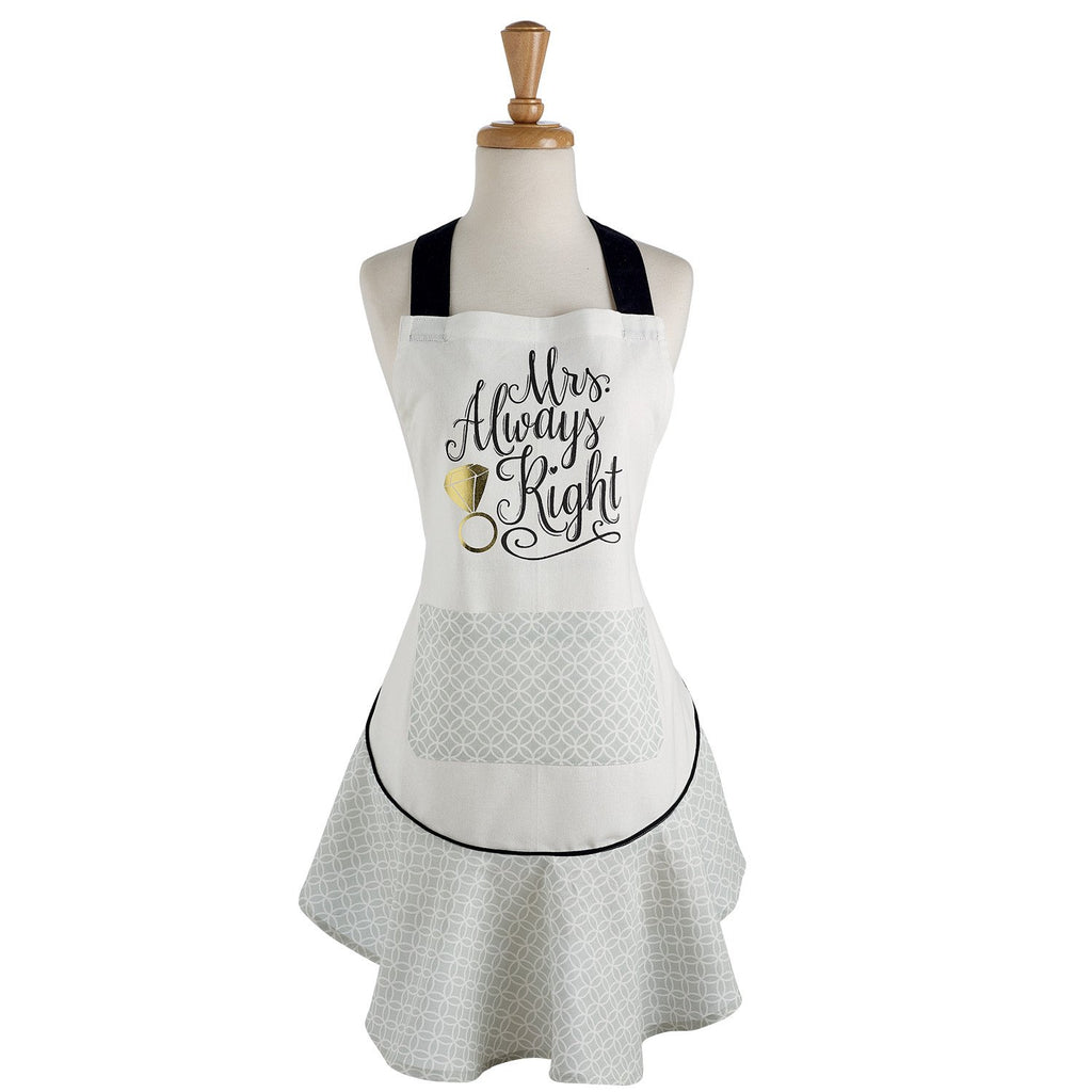 Mrs. Always Right Ruffle Apron - DII Design Imports