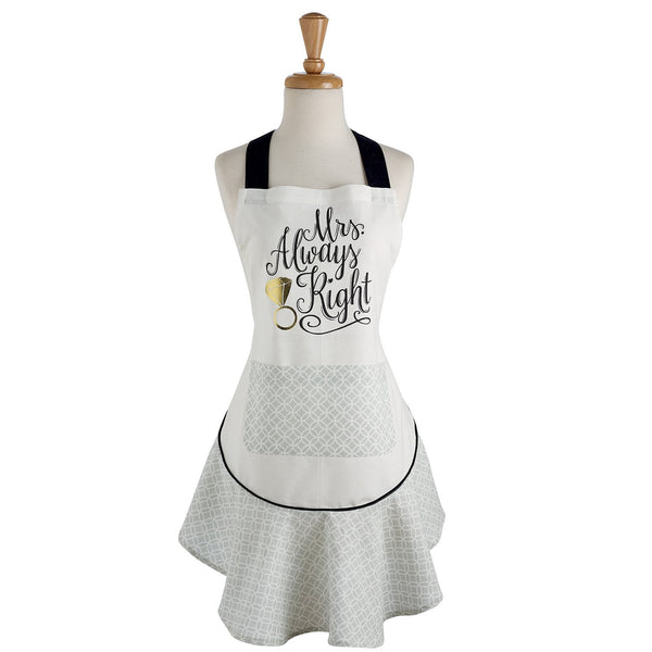 Wholesale Mrs. Always Right Ruffle Apron - DII Design Imports