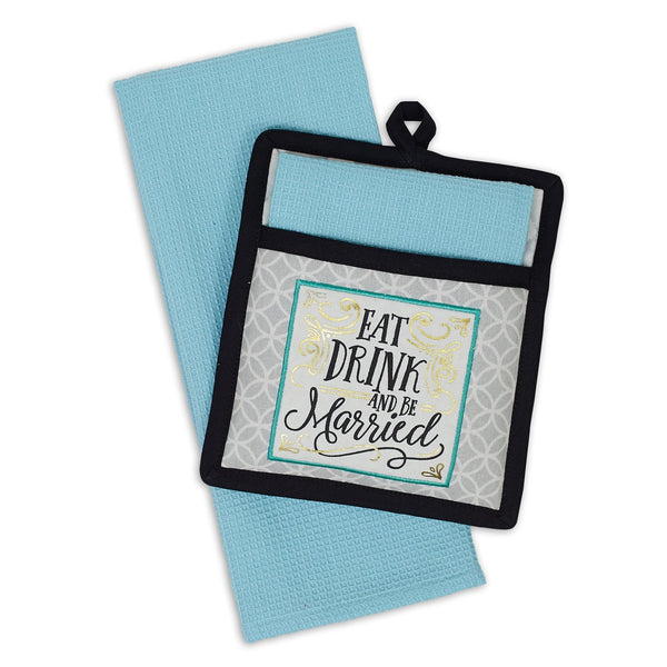 Wholesale Be Married Potholder Gift Set - DII Design Imports