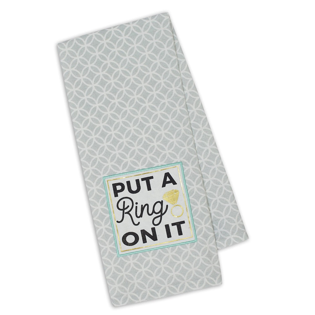Put a Ring Embellished Dishtowel - DII Design Imports