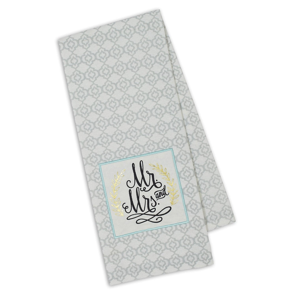 Mr. & Mrs. Embellished Dishtowel - DII Design Imports