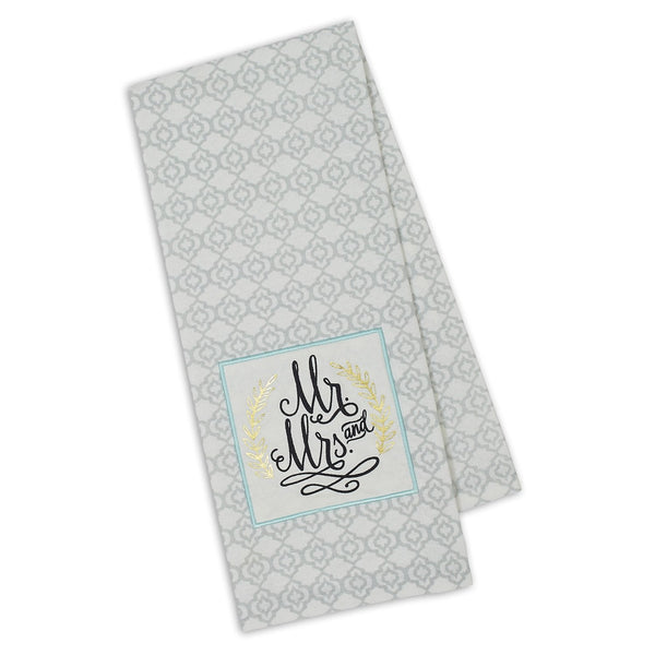 Wholesale Mr. & Mrs. Embellished Dishtowel - DII Design Imports