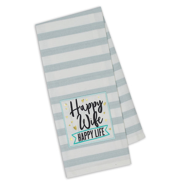 Wholesale Happy Wife Embellished Dishtowel - DII Design Imports