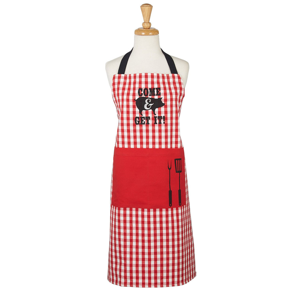 Come & Get It Printed Chef's Apron - DII Design Imports