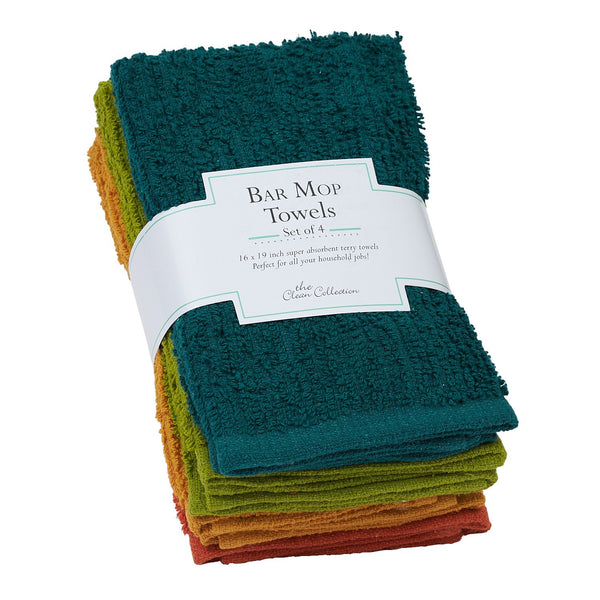 Rustic Bar Mop Towels Set of 4 - DII Design Imports