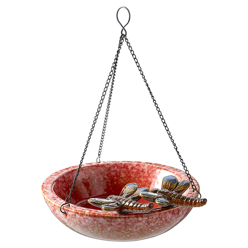 Dragonfly Ceramic Bird Bath/Feeder - DII Design Imports