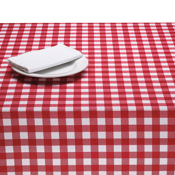 Wholesale Red & White Checkers Outdoor Tablecloth - DII Design Imports