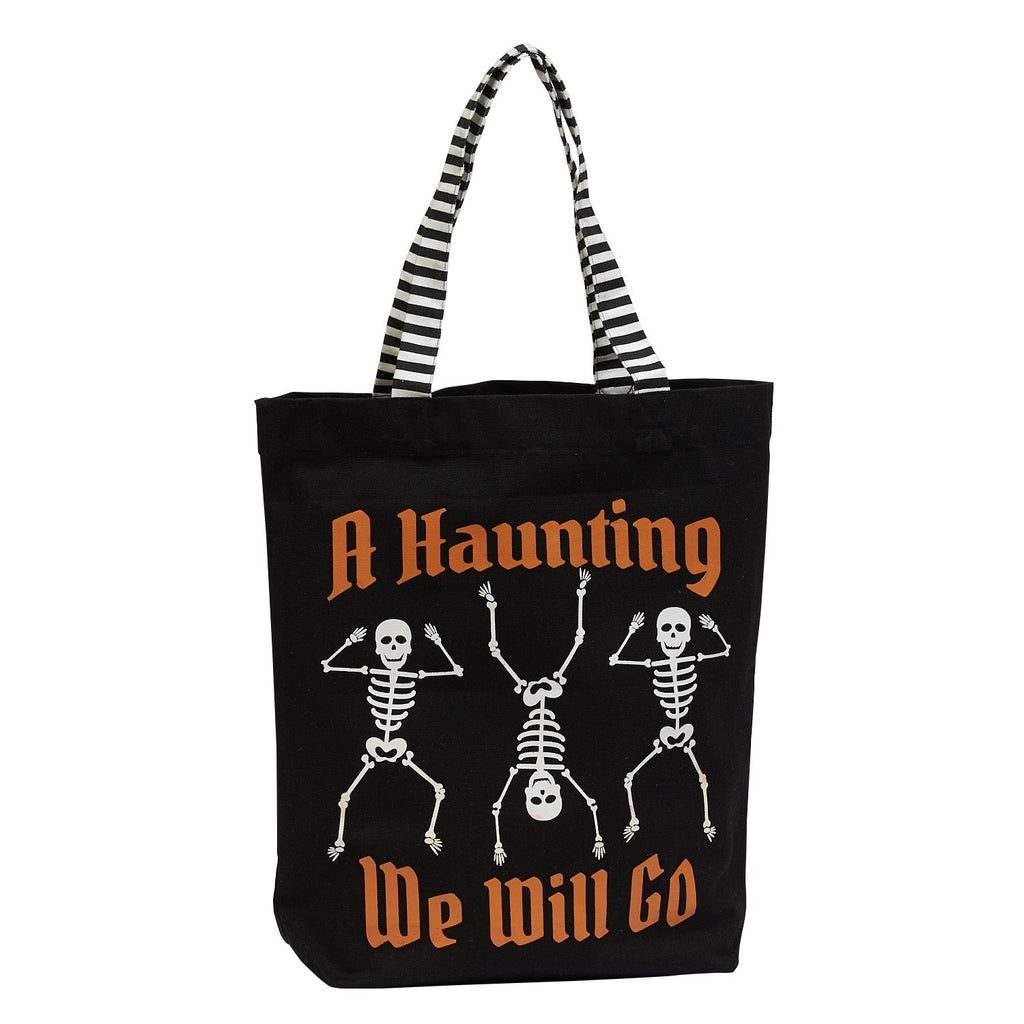 Skeletons Trick of Treat Tote - DII Design Imports