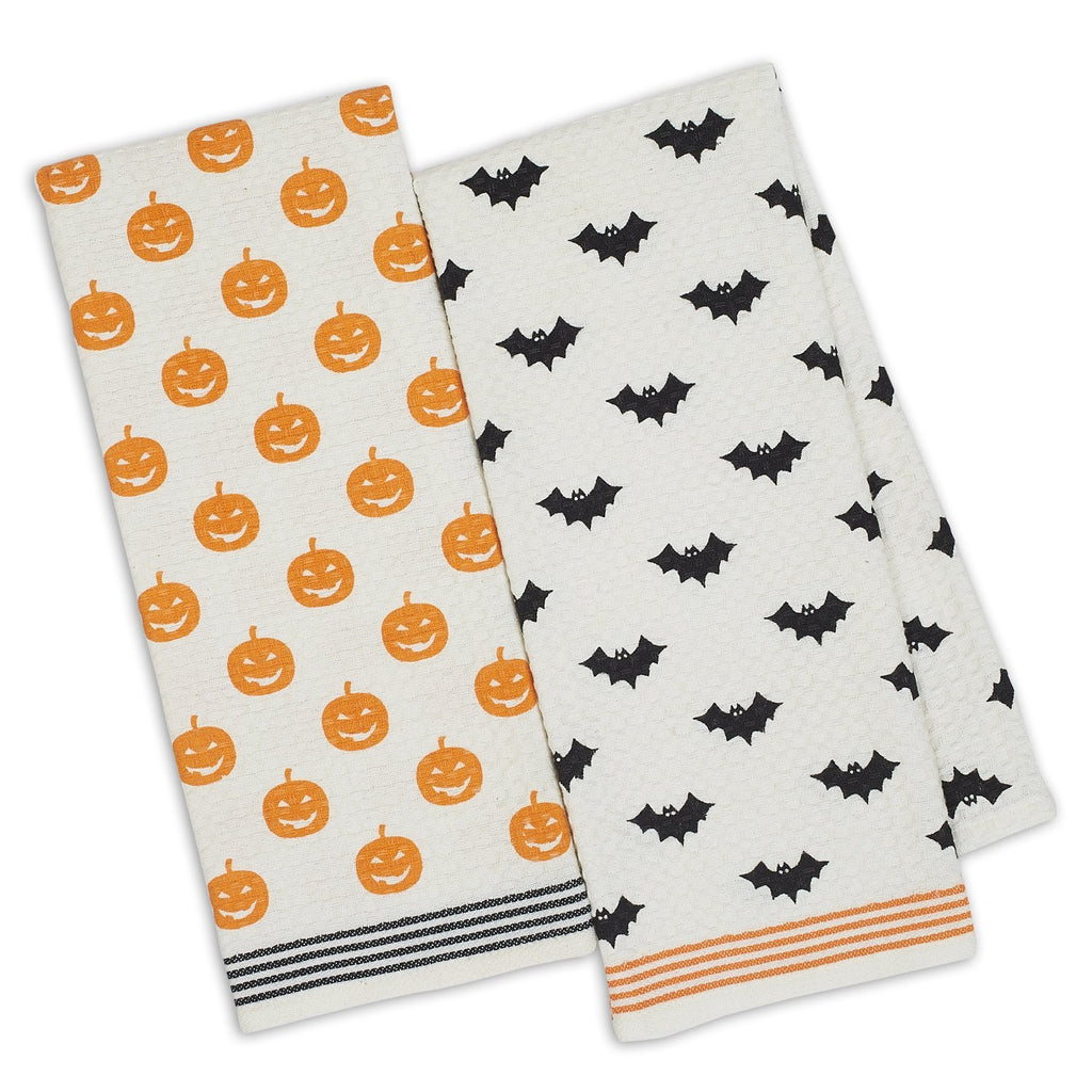 Halloween Printed Dishtowels - DII Design Imports