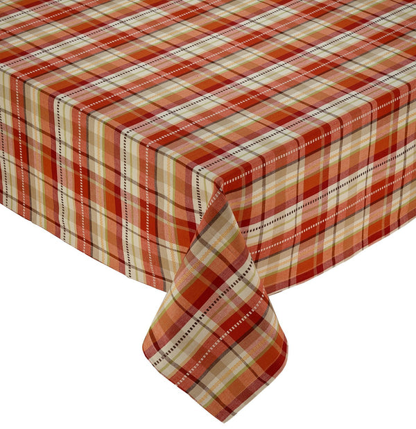 Fall Garden Plaid Tablecloth - DII Design Imports