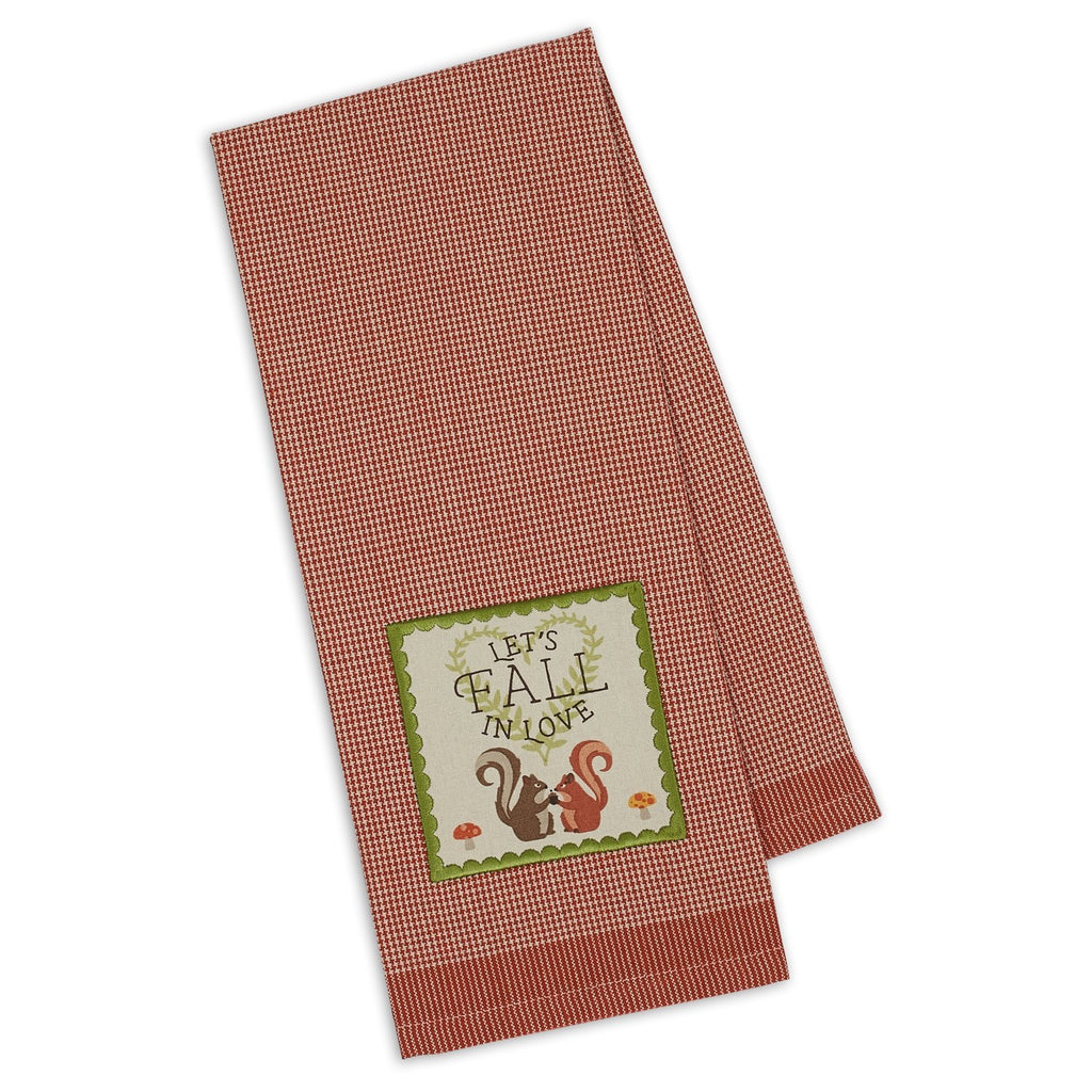 Fall in Love Embellished Dishtowel - DII Design Imports