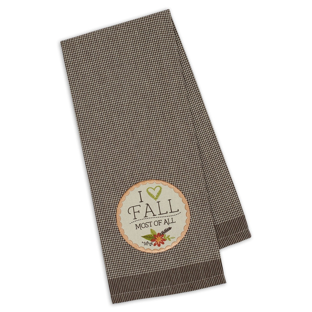 I Love Fall Embellished Dishtowel - DII Design Imports