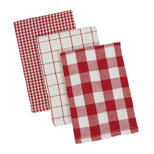 Holiday Checks Heavyweight Dishcloth Set of 3