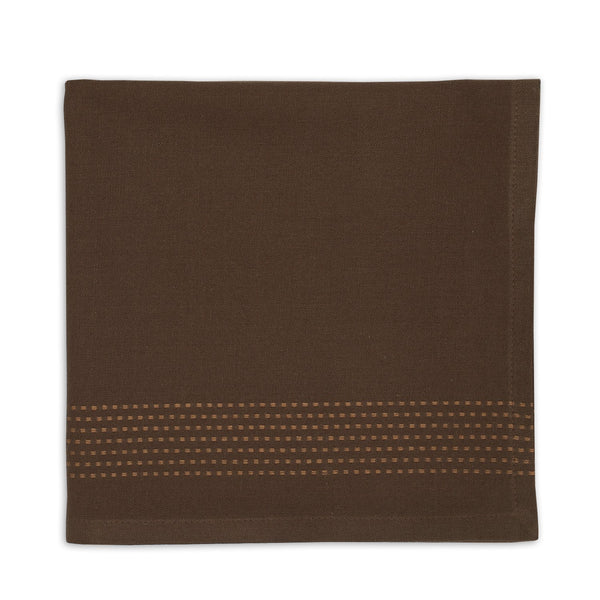 Coffee Bean Dobby Stripe Napkin - DII Design Imports
