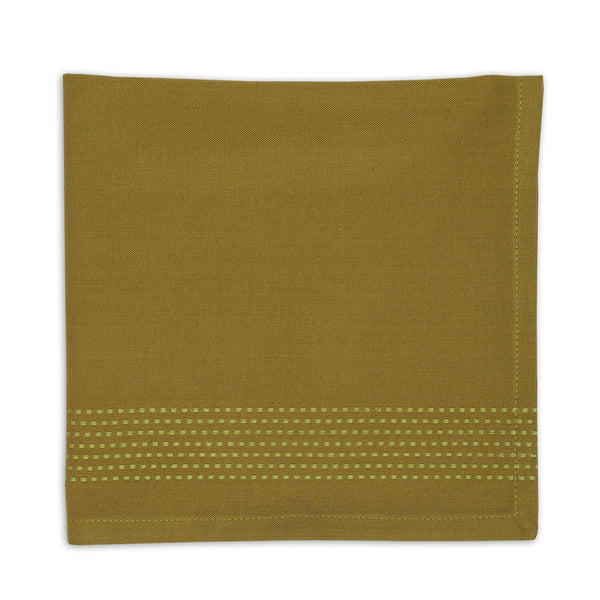 Wholesale Mossy Green Stripe Napkin - DII Design Imports