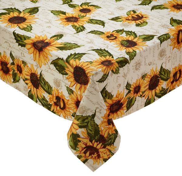Wholesale Rustic Sunflower Printed Tablecloth - DII Design Imports