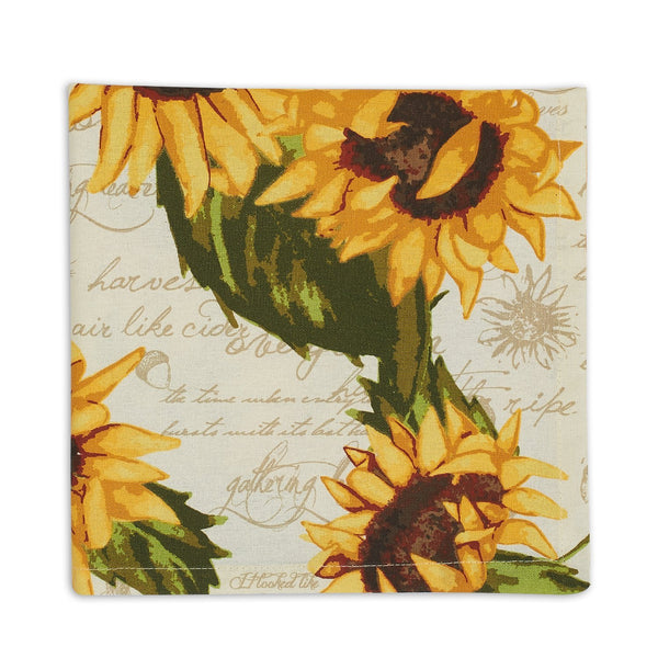 Wholesale Rustic Sunflowers Printed Napkin - DII Design Imports