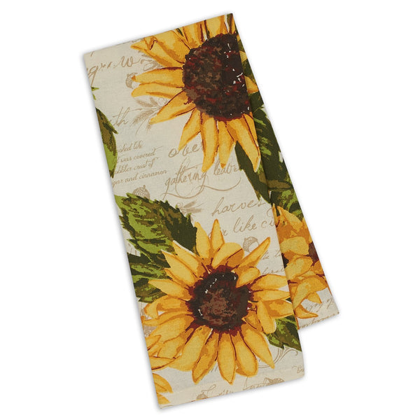 Wholesale Rustic Sunflowers Printed Dishtowel - DII Design Imports