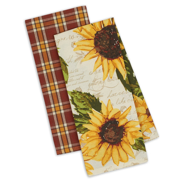 Wholesale Rustic Sunflower Dishtowel Set of 2 - DII Design Imports