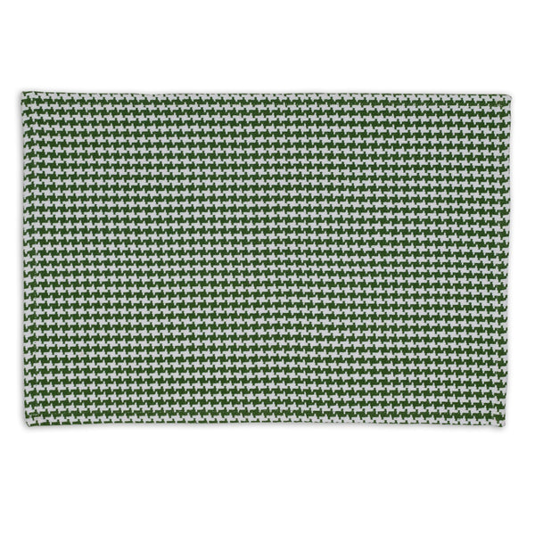 Wholesale Basil Green Houndstooth Placemat - DII Design Imports