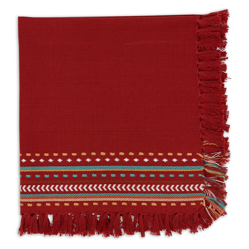 Red Chipotle Hacienda Fringe Napkin - DII Design Imports