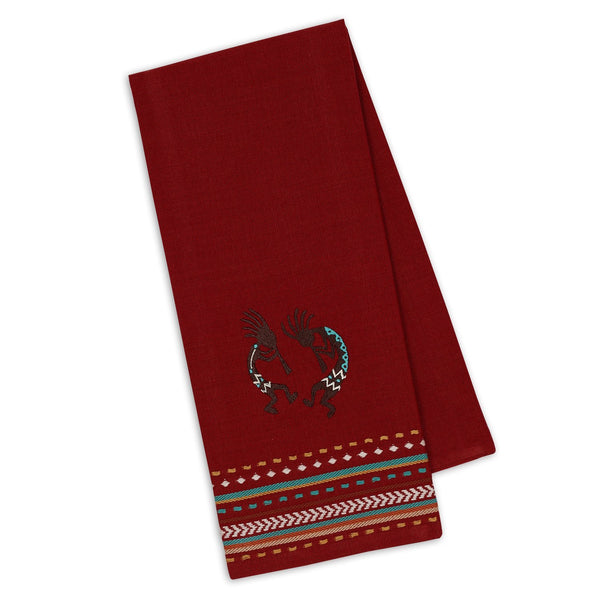 Kokopelli Embroidered Dishtowel - DII Design Imports