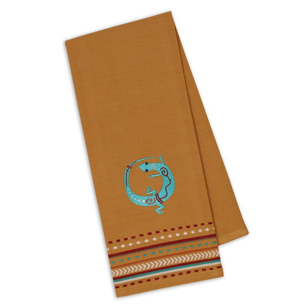 Lizard Embroidered Dishtowel - DII Design Imports