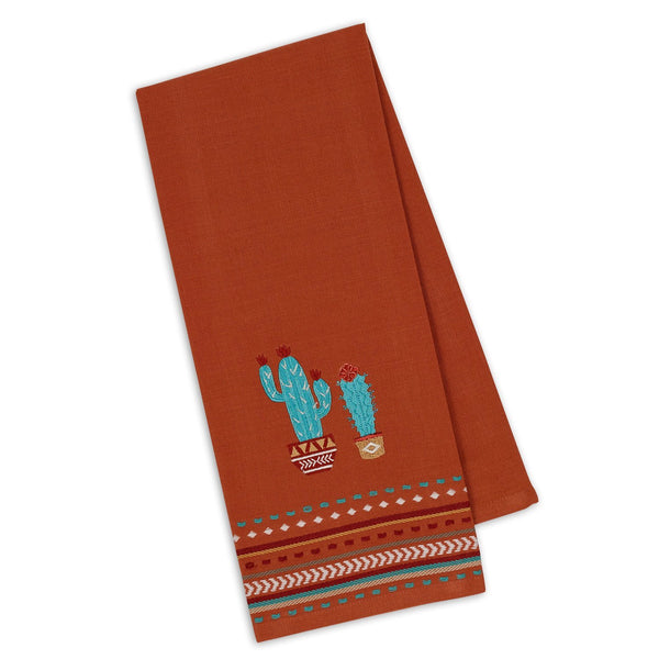 Cactus Embroidered Dishtowel - DII Design Imports