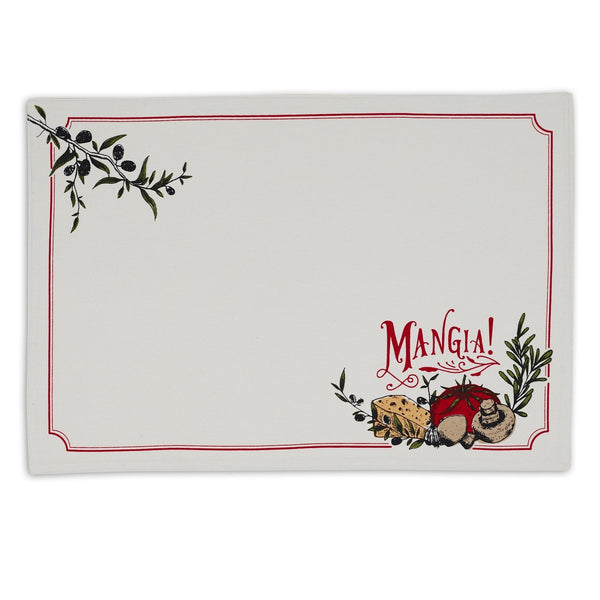 Wholesale Mangia! Printed Placemat - DII Design Imports