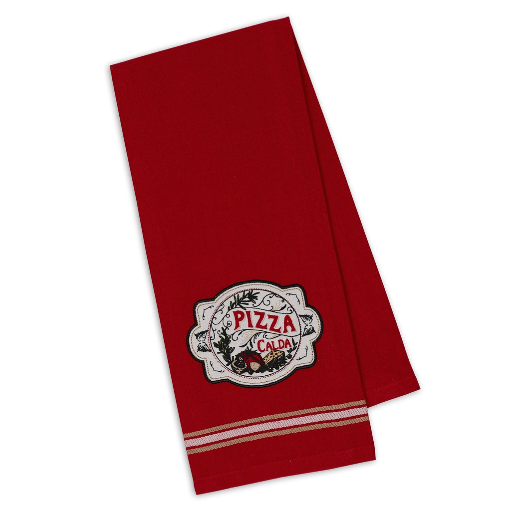 Pizza Embellished Dishtowel - DII Design Imports