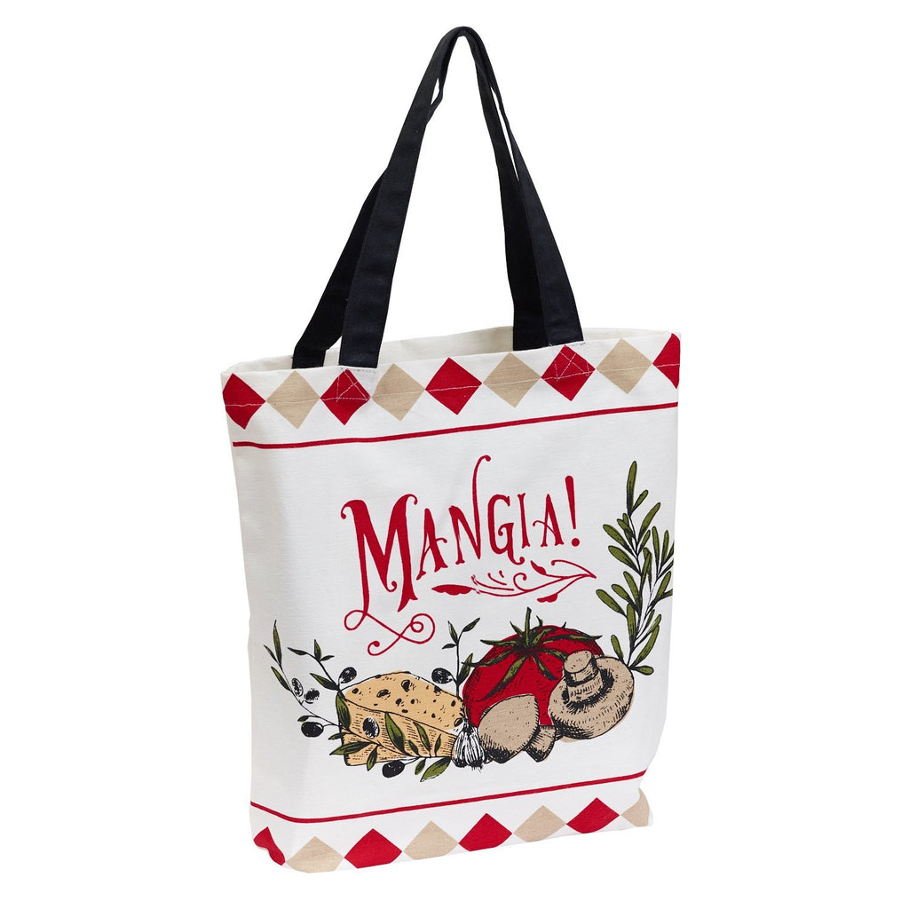 Wholesale Mangia! Printed Tote - DII Design Imports