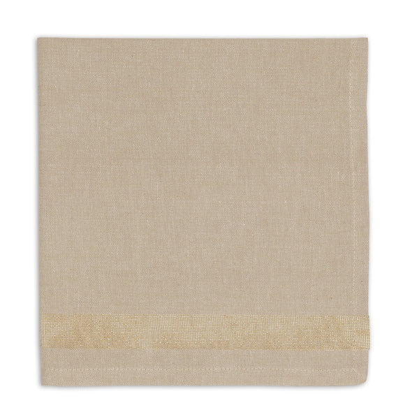 Wholesale Gold Sparkle Stripe Napkin - DII Design Imports