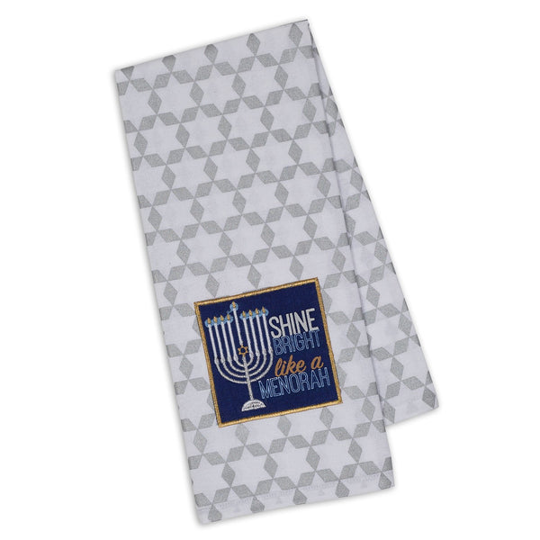 Wholesale Shine Bright Menorah Embroidered Dishtowel - DII Design Imports