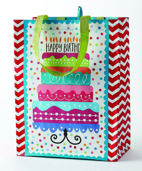 Wholesale Happy Birthday Cake Reusable Tote - DII Design Imports