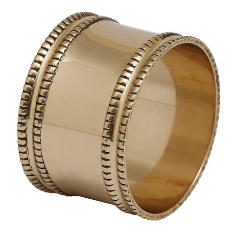 Wholesale - Antique Gold Band Napkin Ring - DII Design Imports - 1