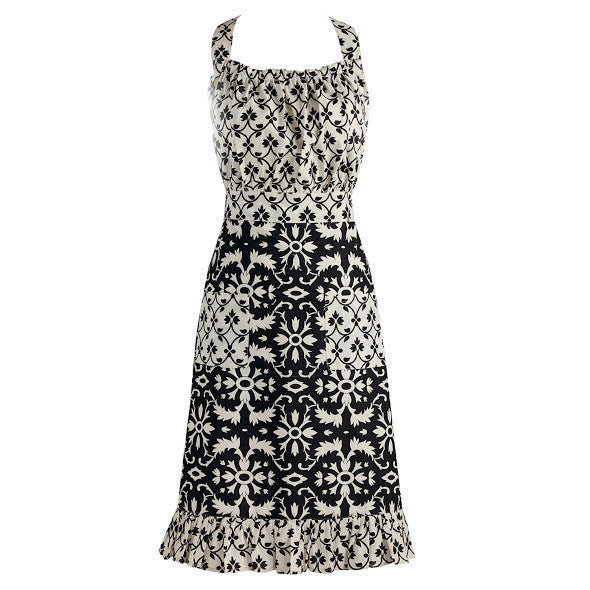 Black and White Mixed Vintage Apron - DII Design Imports