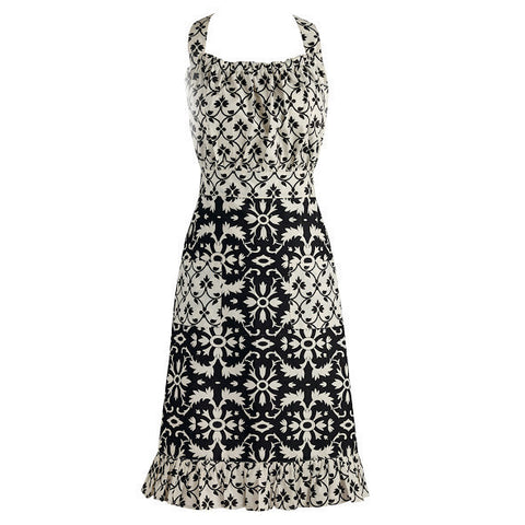 Wholesale - Black and White Mixed Vintage Apron - DII Design Imports
