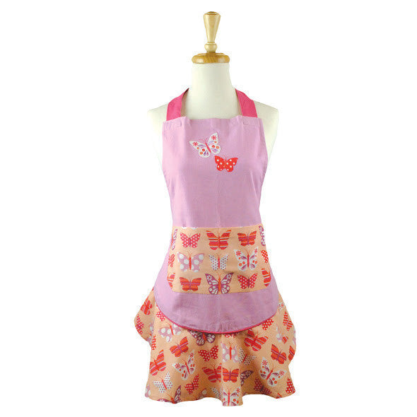 Wholesale Butterfly Ruffled Apron - DII Design Imports
