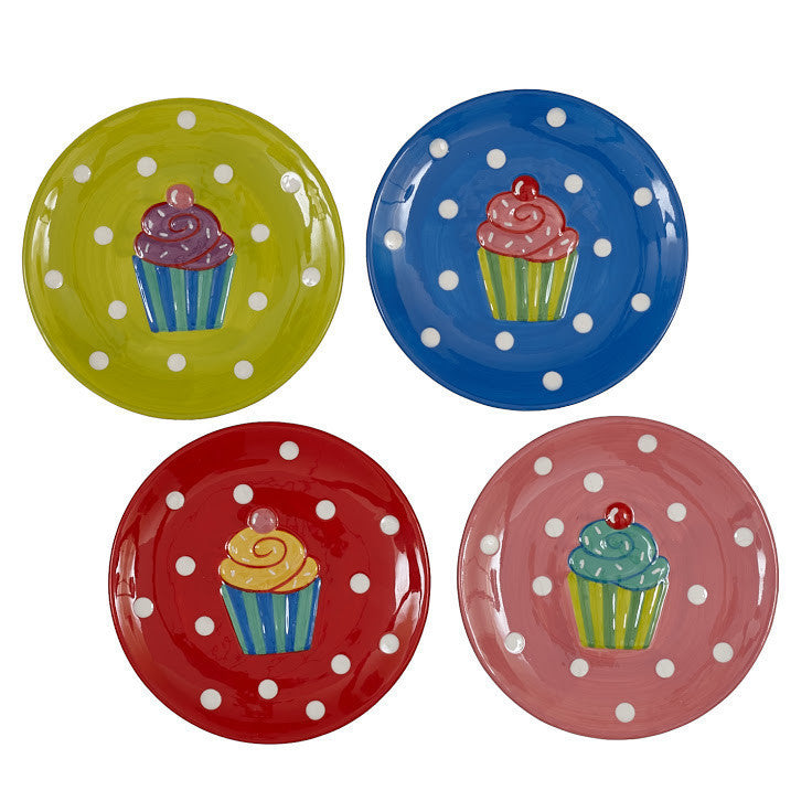 Wholesale Cupcake Dessert Plates - Set of 4 - DII Design Imports