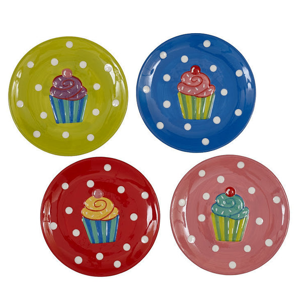 Wholesale - Cupcake Dessert Plates - Set of 4 - DII Design Imports - 1