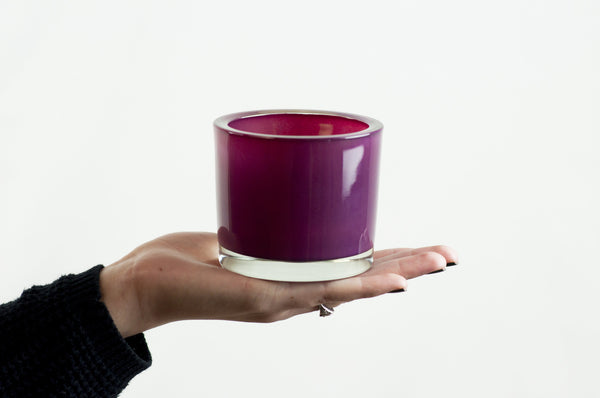 Wholesale - Hot Pink Glass Candle Holder - DII Design Imports - 5