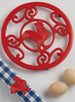 Wholesale Red Rooster Scroll Trivet - DII Design Imports