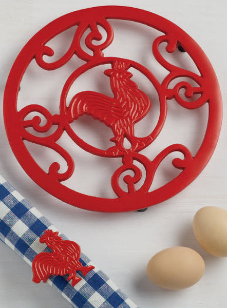 Wholesale - Red Rooster Scroll Trivet - DII Design Imports - 2