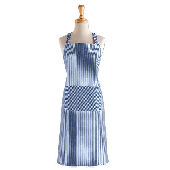 French Blue Chef Stripe Chef's Apron - DII Design Imports