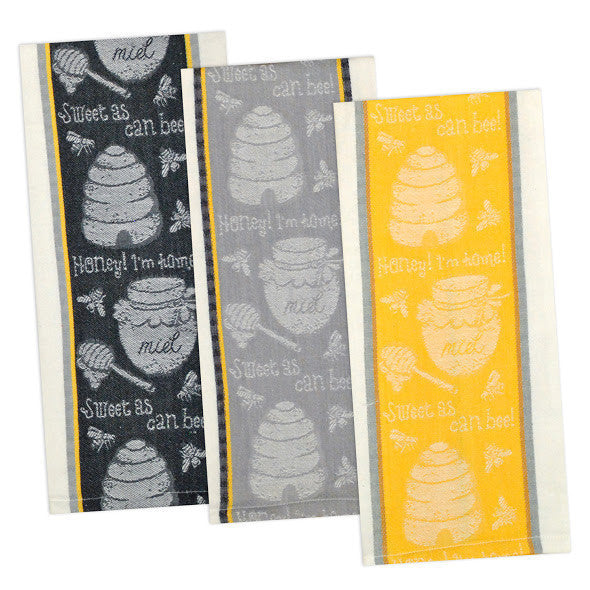 Wholesale - Honey Bee Jacquard Dishtowels - DII Design Imports - 1