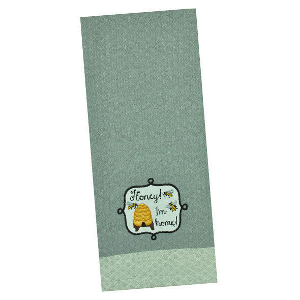 "Wholesale - ""Honey I'm Home"" Embellished Dishtowel - DII Design Imports - 1"