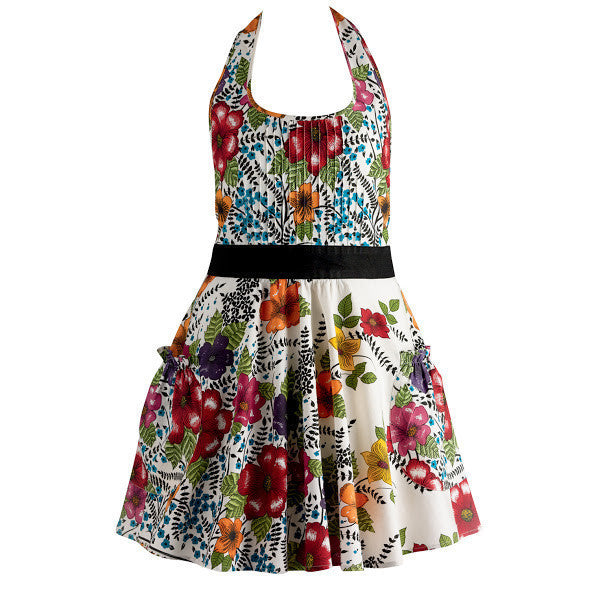 India Flower Vintage Apron - DII Design Imports