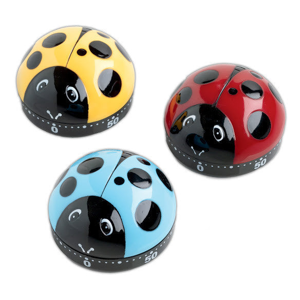 Lady Bug Kitchen Timers - DII Design Imports