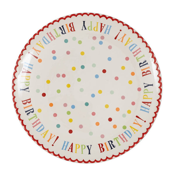 Large Happy Birthday! Plate - DII Design Imports