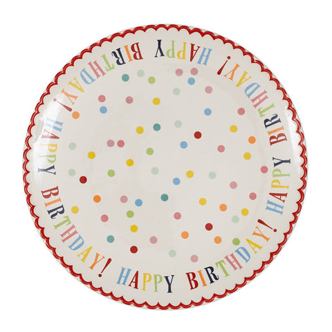 Wholesale - Large Happy Birthday! Plate - DII Design Imports - 1